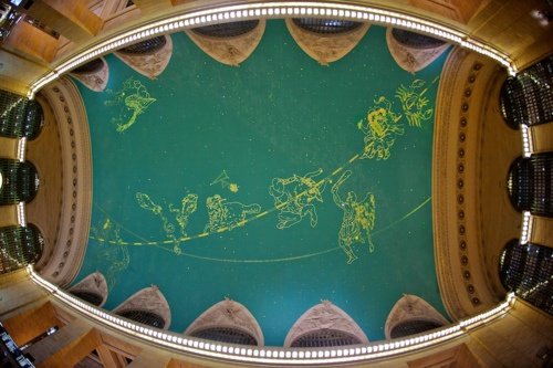 4 years in brooklyn grand central station for Constellation ceiling mural