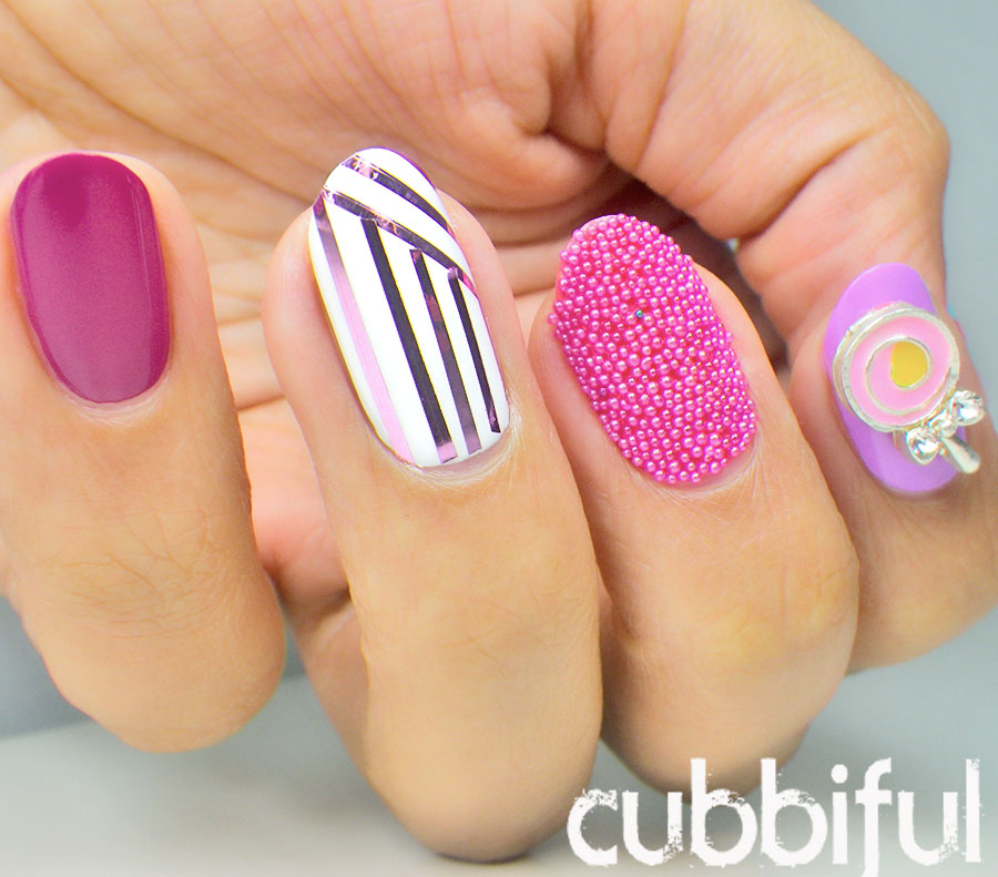 Caviar Nails and Lollipop nail charm