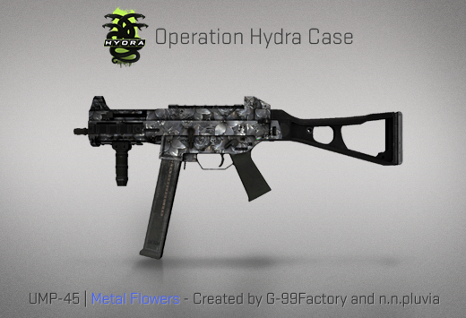 Operation Hydra Case - UMP-45 | Metal Flowers