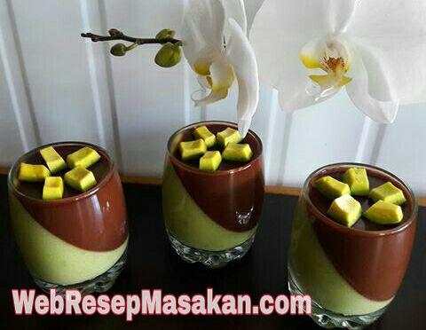 Puding Alpukat Lapis Coklat, Resep puding alpukat lapis coklat,