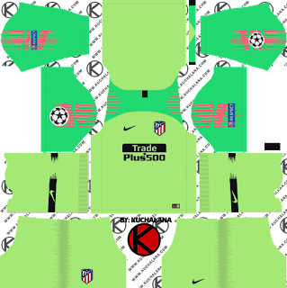 Atletico Madrid 2018/19 UCL Kit - Dream League Soccer Kits