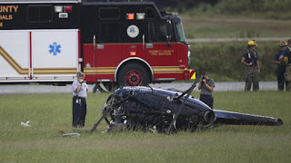 2 officers hurt in police helicopter crashes near Atlanta