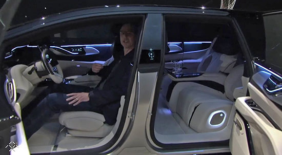 No Real Picture Of The Interior Yet But Here Is Something Looking Super Roomy And Luxurious With Some Guy From Faraday Future Inside Almost Smiling