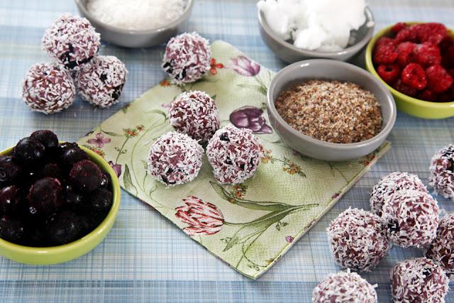 Homemade fruit truffle dog treats