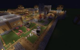 Minecraft-Medieval-House-Plans-Secure-Village