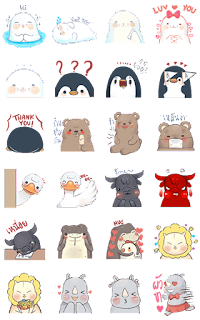 new line stickers