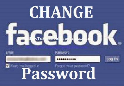 How to change a password on facebook