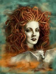 Ilustración de medusa