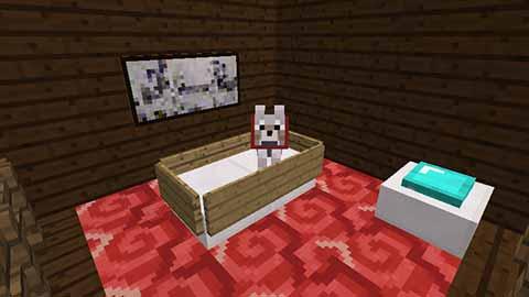 マイクラのペット用ベッドルーム画像