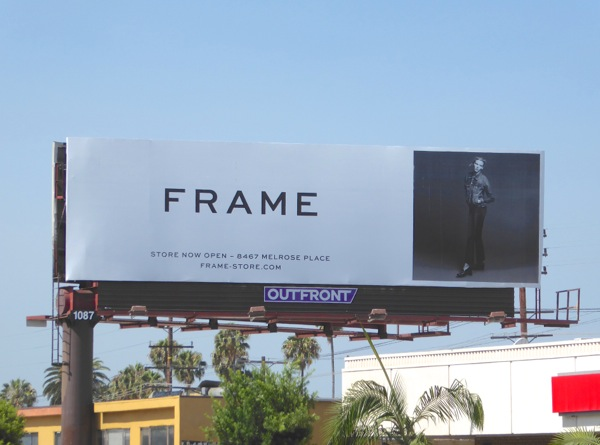 Frame Melrose store Summer 2016 fashion billboard