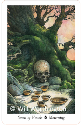 Wildwood Tarot Seven of Vessels Mourning