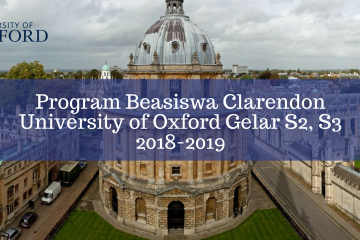 Beasiswa Clarendon University of Oxford Gelar S2, S3