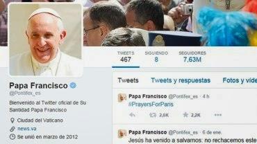 Papa Francisco mensaje en twitter