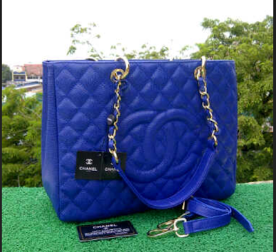Tas Chanel Grand Shopper Tote GST Blue Caviar