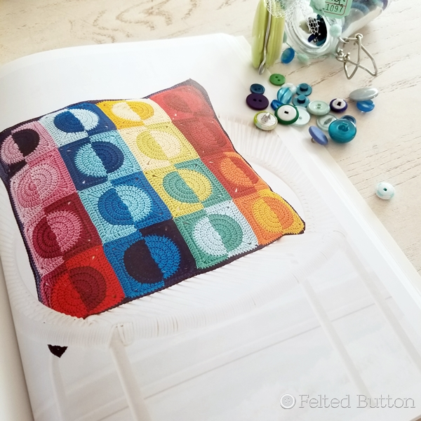 Crochet Kaleidoscope Book Review by Susan Carlson of Felted Button (Colorful Crochet Patterns)