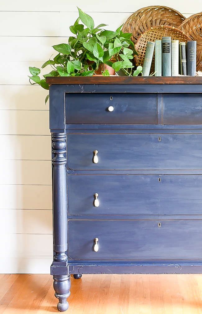 Coastal blue painted empire dresser