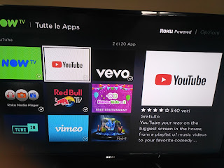 YouTube su Now TV Box