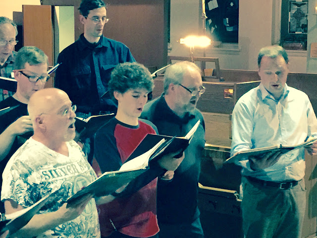 Pete directs from the tenor section, and sings along as well