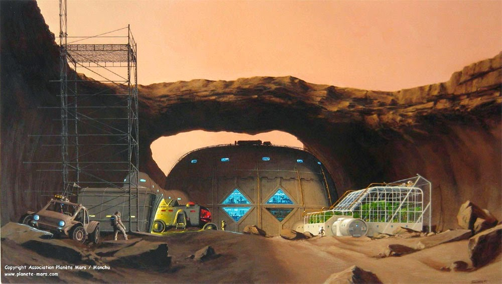 Mars base by Manchu
