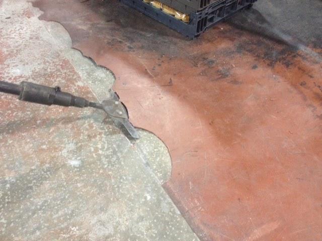 failed concrete coating