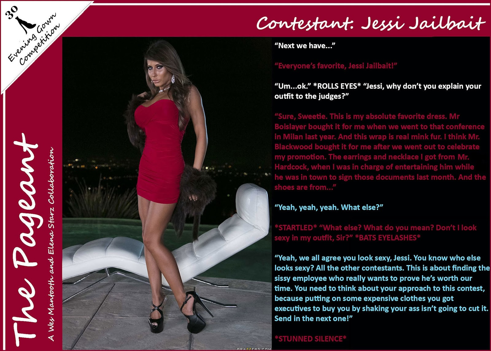 Interracial Sissy Captions The Pageant Evening Gown -8130