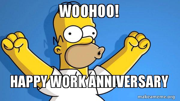 Simsons funny happy work anniversary images