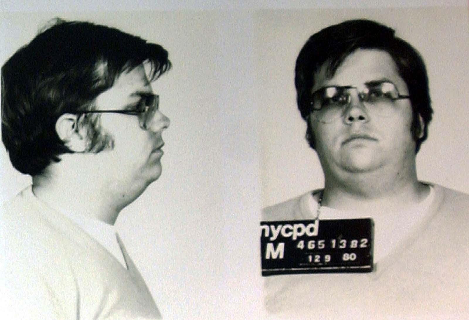 Mark Chapman's mugshot.