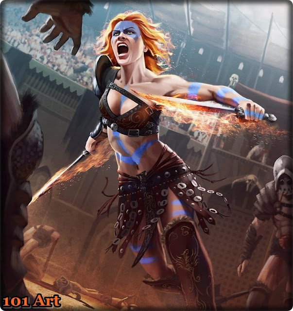 Rogue Warrior Red Haired Female Character Concept