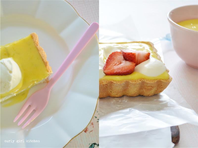 Citrus Cream Cheese Tart, Lemon Tart, Strawberry Tart, Lemon Cream Tart