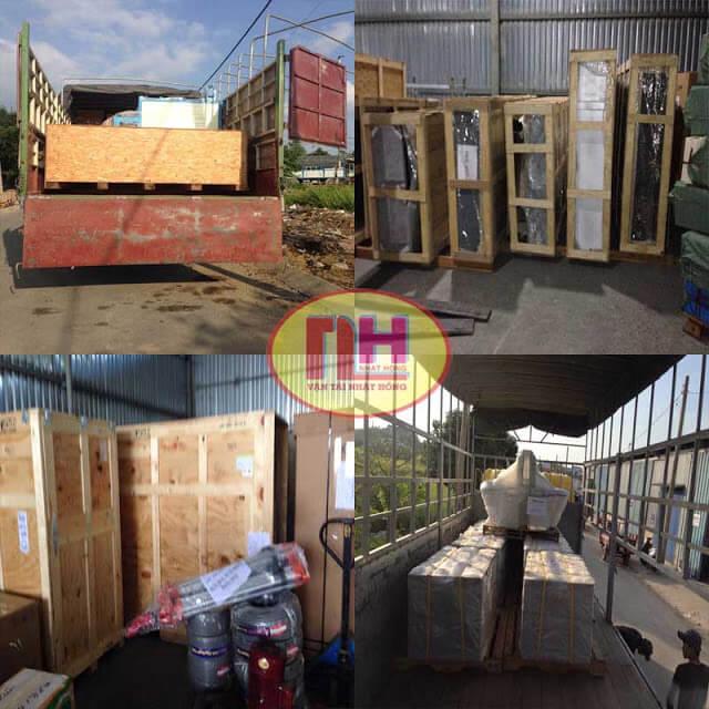 Hàng pallet gỗ đóng kiện gỗ khung gỗ thùng gỗ
