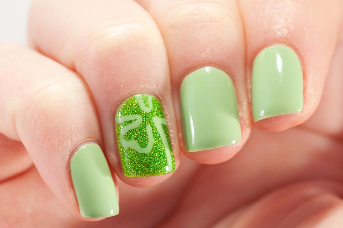 Saint Patrick\'s Day Nail Art - May contain traces of polish