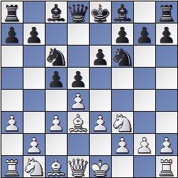 Torneo de Maestros del Comtal 1934, posición de la partida de ajedrez Bertrana – Ribera después de 6. a3