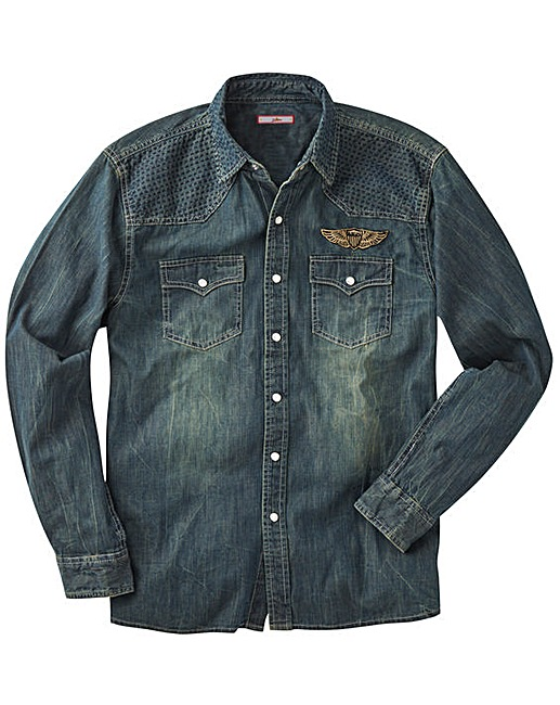 Jacamo review: Joe Brown Denim Shirt With Badges