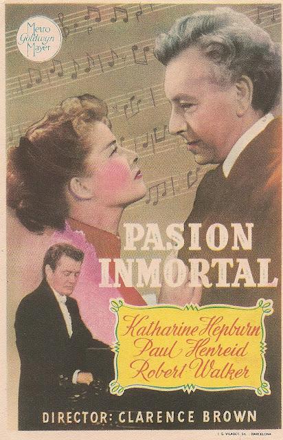 Programa de Cine - Pasión Inmortal - Katharine Hepburn - Paul Henreid