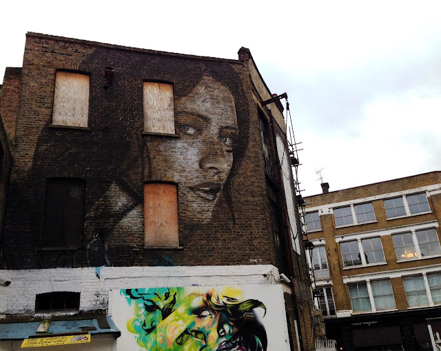 New Street Art Portrait By Australian Artist RONE in East London, United Kingdom. 6