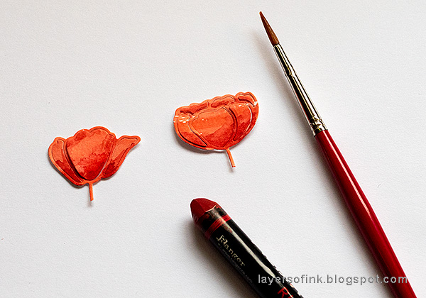 Layers of ink - Poppy Card Tutorial by Anna-Karin Evaldsson.