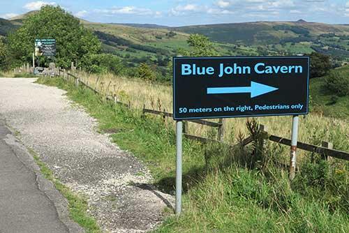 Blue John Cavern, Castleton.