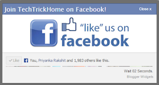 Timer Facebook Popup Likebox for Blogger