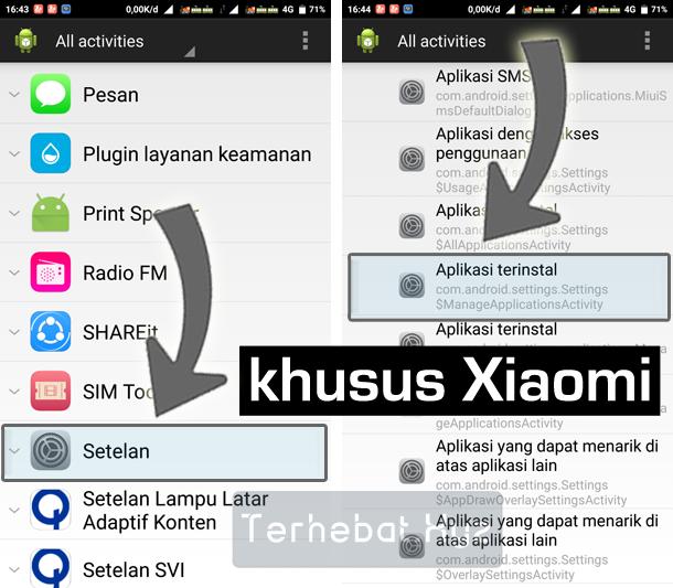 cara nonaktifkan aplikasi bawaan di Xiaomi