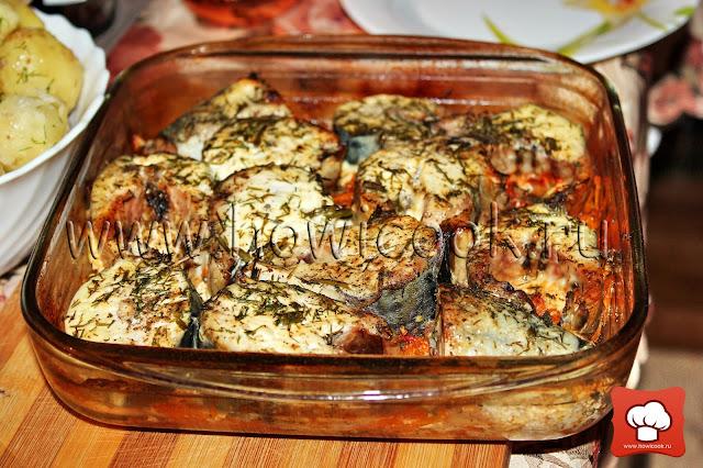 рецепт скумбрии в духовке