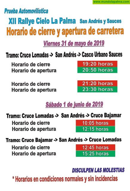 HORARIOS DE CIERRES Y APERTURA DE CARRETERA