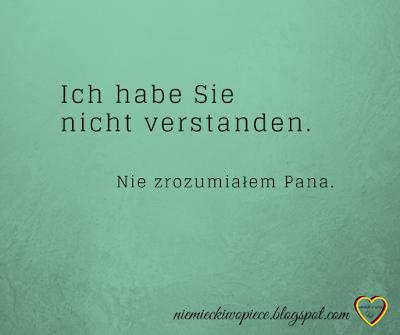 Niemiecki w opiece - Nie zrozumiałem Pana.