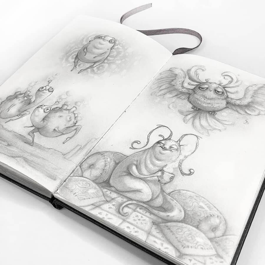 02-Drawings-of-Creatures-Stella-Bialek-www-designstack-co