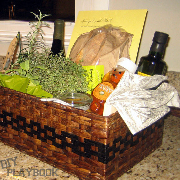 Basket o' blessings for the new homeowner