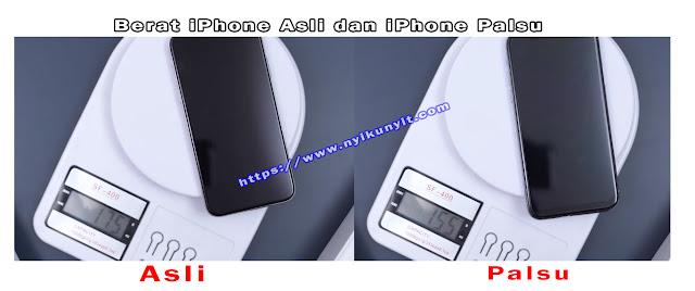 Berat iphone xs ori dan kw