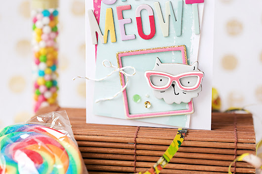 Cardmaking I Meet the cat with pink glasses I Crate Paper Blog