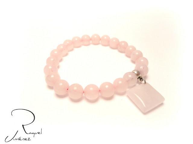 pulsera de cuarzo rosa