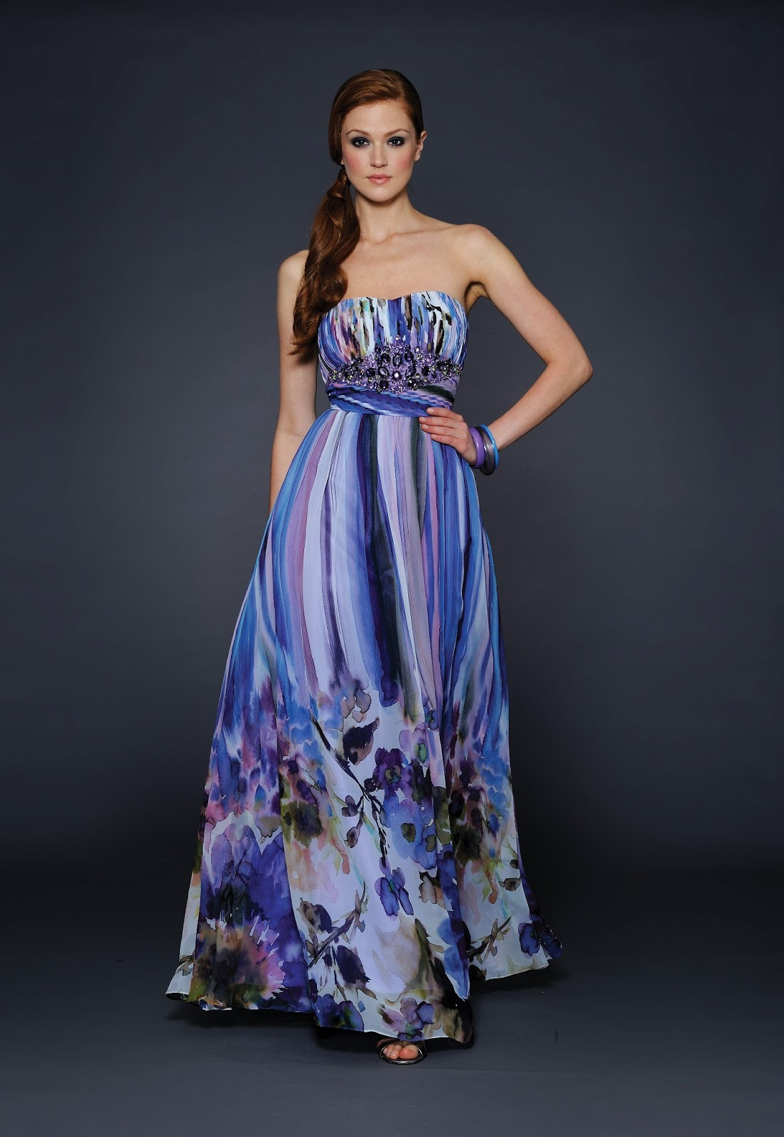 Blog Of Wedding And Occasion Wear Print Long Dresses For