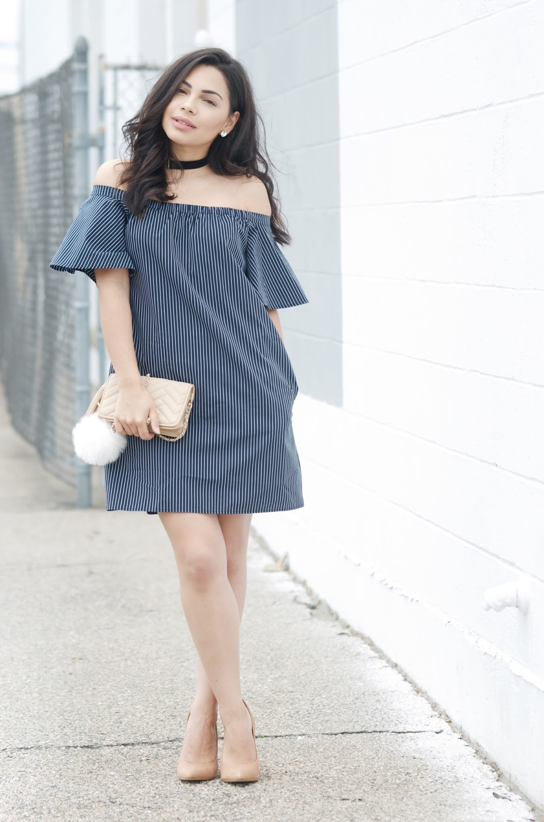 wardrobe staple: off the shoulder dress | the style brunch
