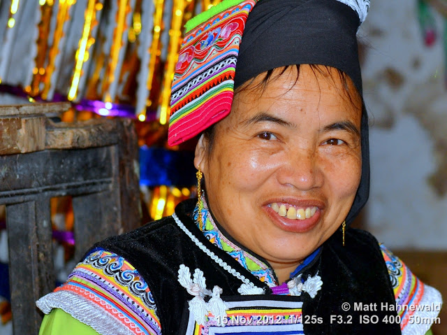 close up, people, street portrait, China, Yunnan, hill tribe, ethnic minority, traditional costume, Laomeng, Miao people